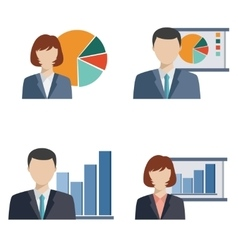Business people doing presentation vector image vector image