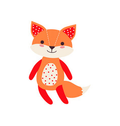 cute soft fox pup plush toy stuffed cartoon vector image
