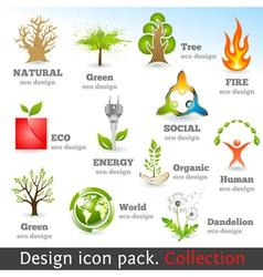 Design 3d color icon set vector image vector image