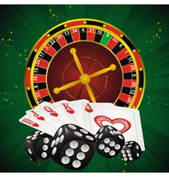 roulette green dice vector image