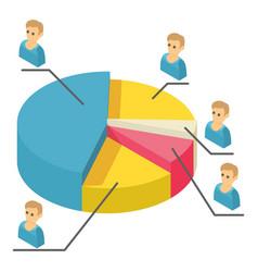 statistics icon isometric 3d style vector image