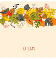 Background from autumn leaves vector image