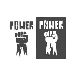 Fist raised up icon black vector image vector image