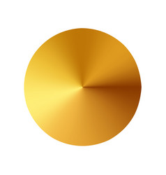 gold button metal circle button vector image
