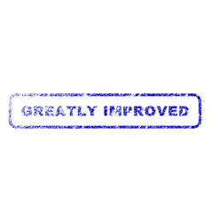 greatly improved rubber stamp vector image vector image