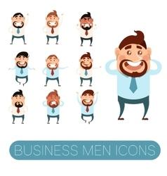 Set of business men5 vector image vector image