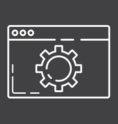 web optimization line icon seo and development vector image vector image