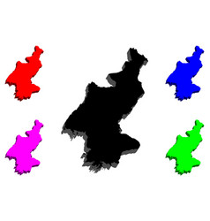 3d map of north korea vector image