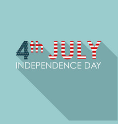 4th july concept greeting banner american vector image