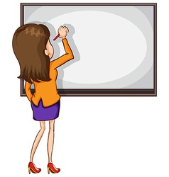 A sketch of an educator writing vector