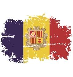Andorra grunge flag vector