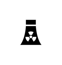 Atomic nuclear power plant flat icon vector