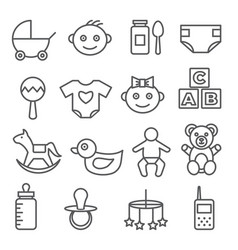 baline icons set on white background vector image