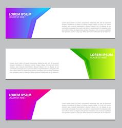 banner design for businessmodern design template vector image