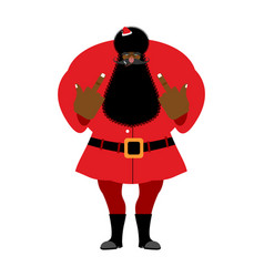 big black bad santa claus shows to vector image