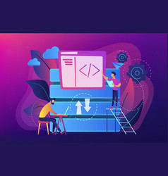 big data developer concept vector image