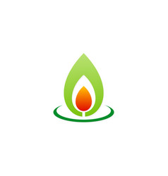 bio flame energy organic logo vector image