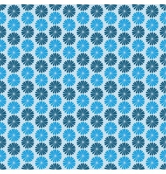 Blue flowers dark background seamless pattern vector image