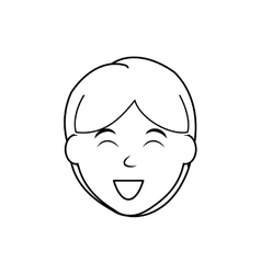 Boy smiling cartoon vector image