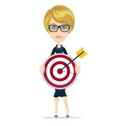 businesswoman with dart and target vector image