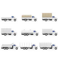 cargo trucks 05 vector image