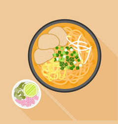 Chiang mai noodle vector