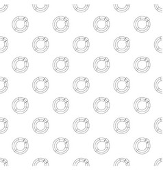 circle chart pattern seamless vector image