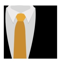 Color silhouette with formal suit and tie close up vector
