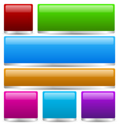 colorful buttons bars with 3d effect vector image
