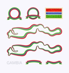 colors gambia vector image