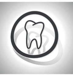 Curved tooth sign icon vector