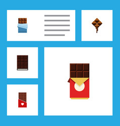 Flat icon chocolate set of chocolate chocolate vector