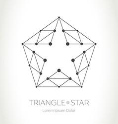 Geometric Star logo Modern stylish design element vector image vector image