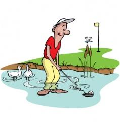 Goofy golfer vector