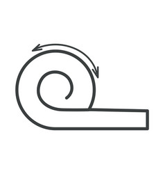 Graphic instructions how to roll mattress or vector