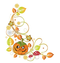 halloween leaves autumn vector image