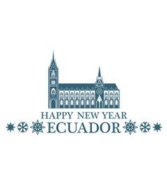 Happy New Year Ecuador vector image