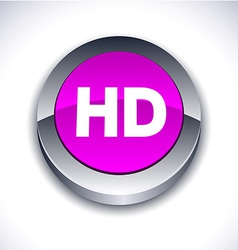 HD 3d button vector