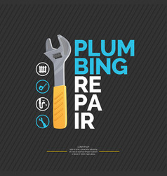 House and plumbing repair vector