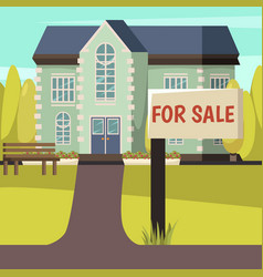 house for sale colored background vector image