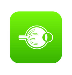 human eyeball icon digital green vector image