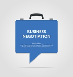 Icon business negotiations vector