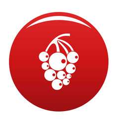 Isabella grapes icon red vector
