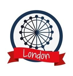Isolated london eye design vector image