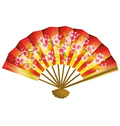 Japanese fan over white vector