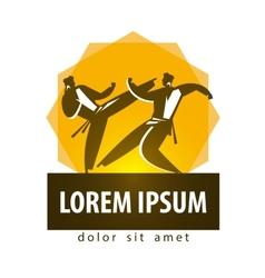 Karate logo design template combat sport vector