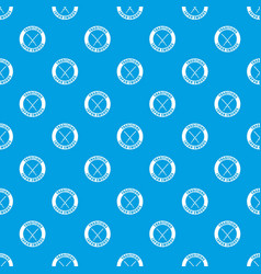 katana pattern seamless blue vector image