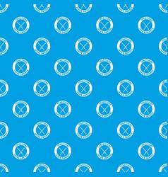 katana pattern seamless blue vector image