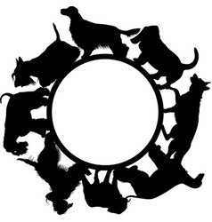 logo with dogs on a white background vector image
