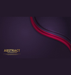 Luxury dark red and blue overlap layers background vector